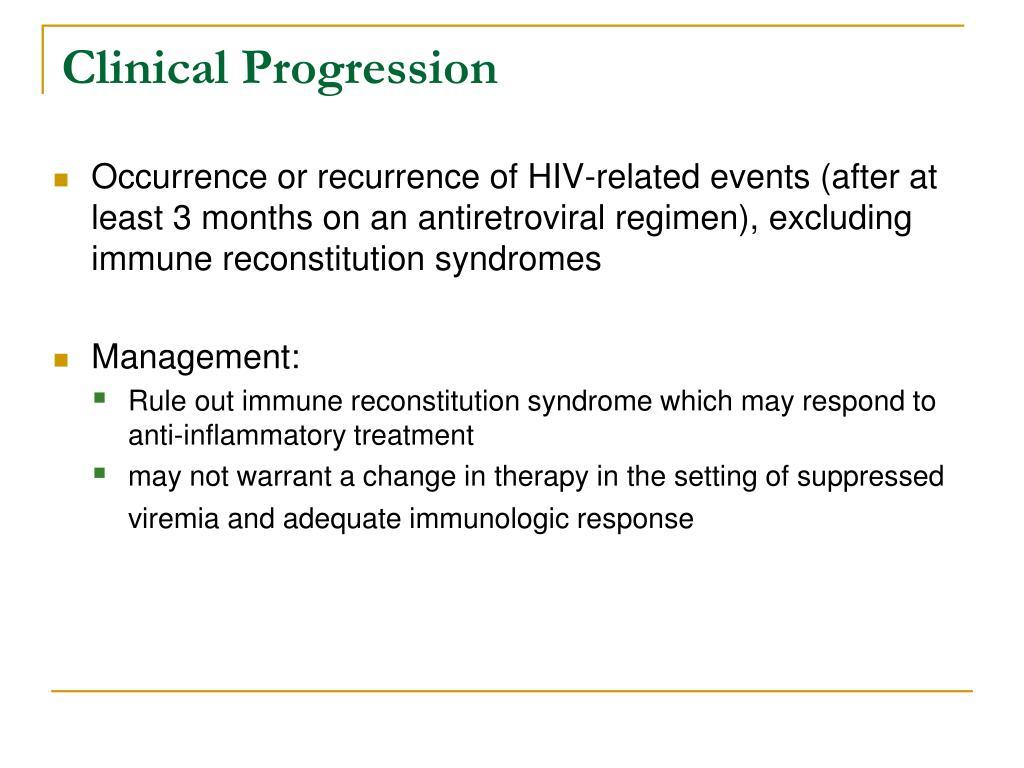 Clinical Progression