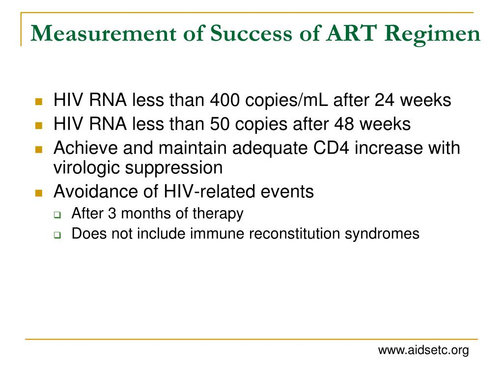 Measurement of Success of ART Regimen