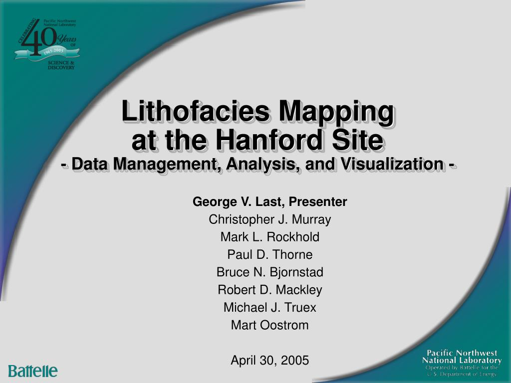 lithofacies mapping at the hanford site data management analysis and visualization