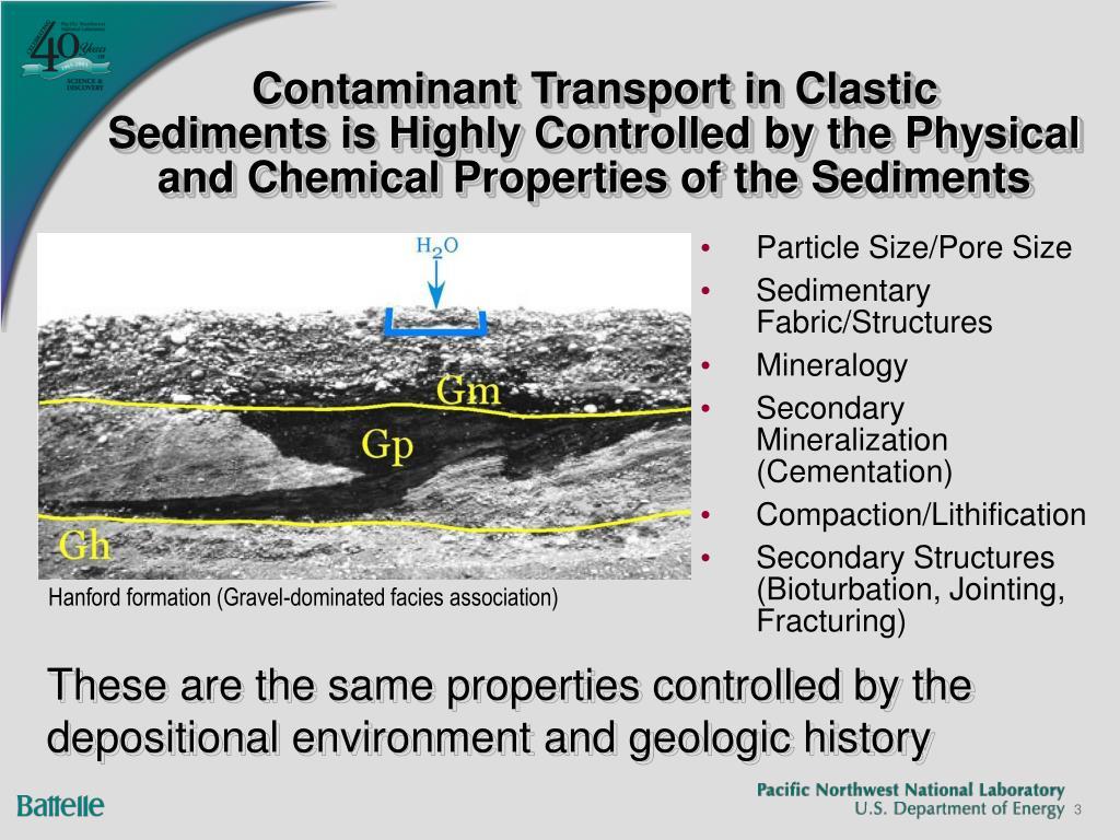 Contaminant Transport in Clastic