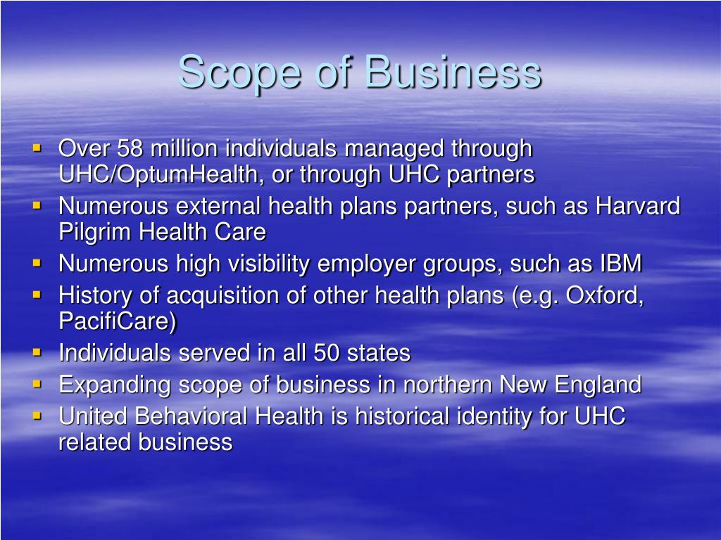 Scope of Business