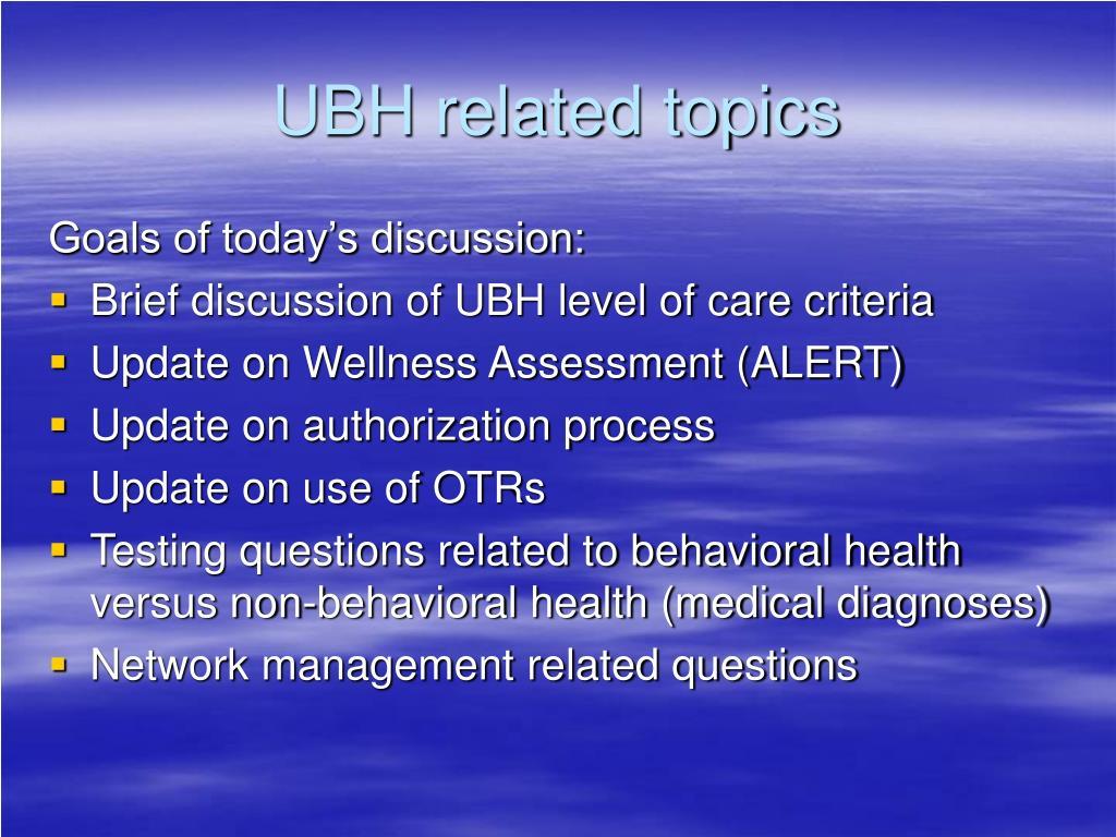 UBH related topics