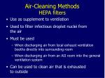 air cleaning methods hepa filters