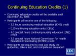 continuing education credits 1