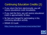continuing education credits 2