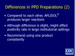 differences in ppd preparations 2