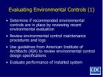 evaluating environmental controls 1