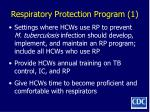 respiratory protection program 1