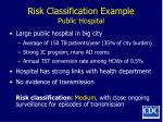 risk classification example public hospital