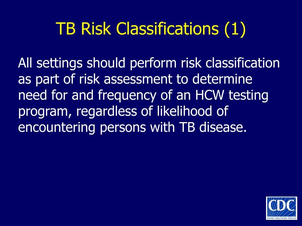 TB Risk Classifications (1)