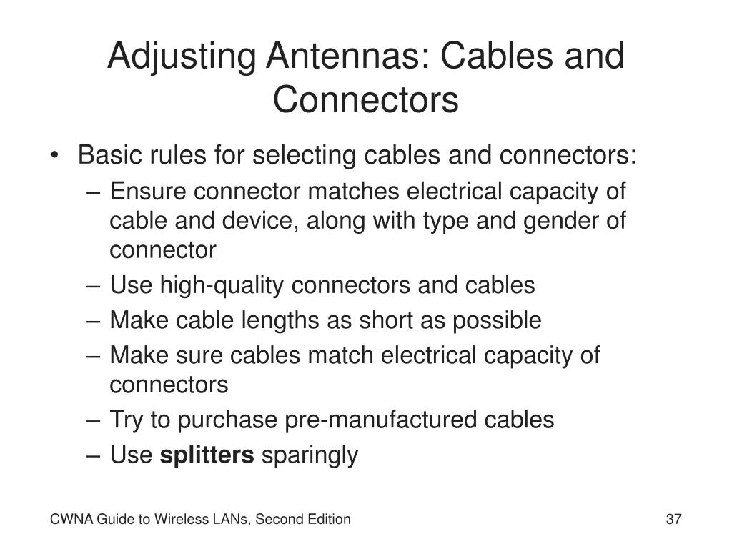 Adjusting Antennas: Cables and Connectors
