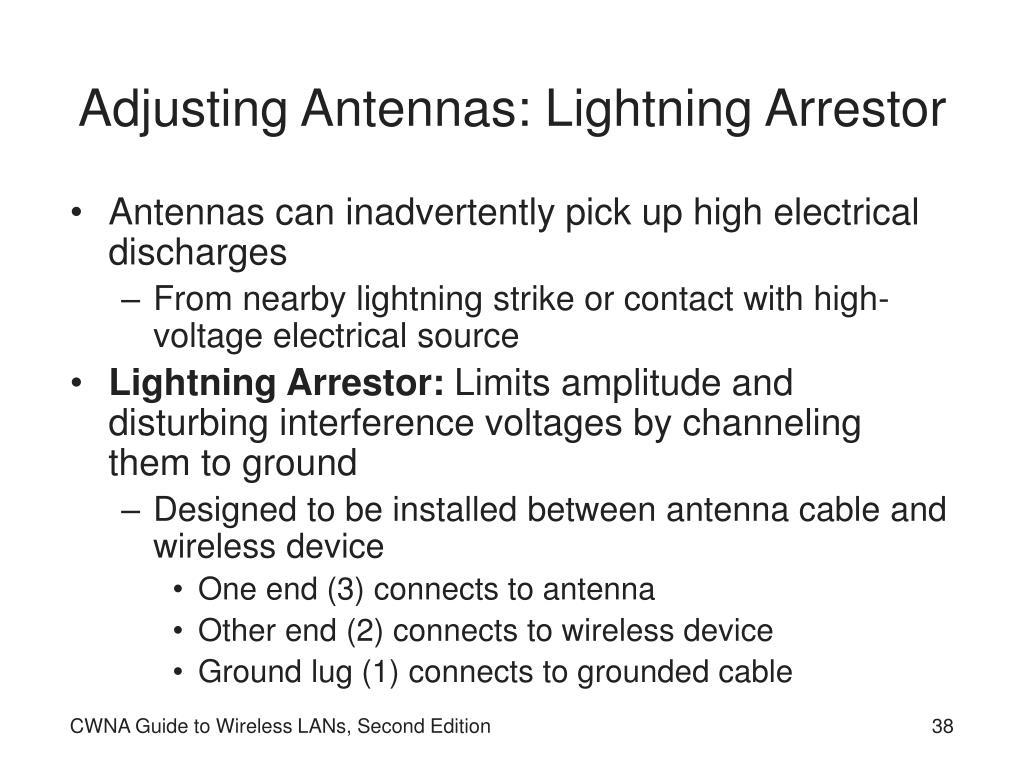 Adjusting Antennas: Lightning Arrestor