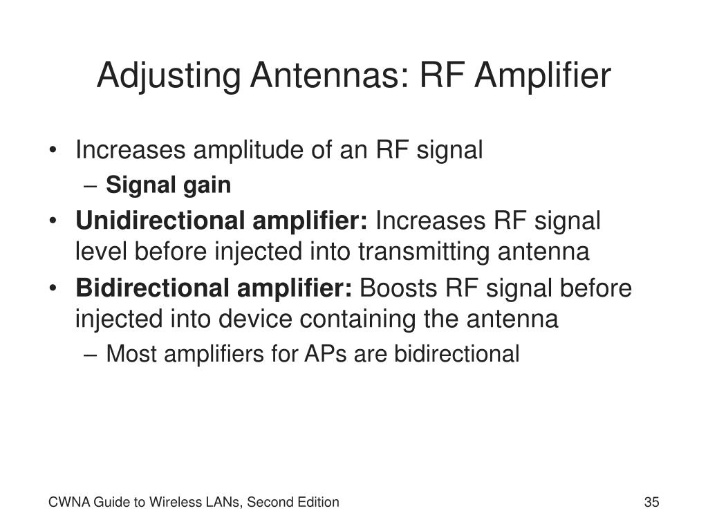 Adjusting Antennas: RF Amplifier
