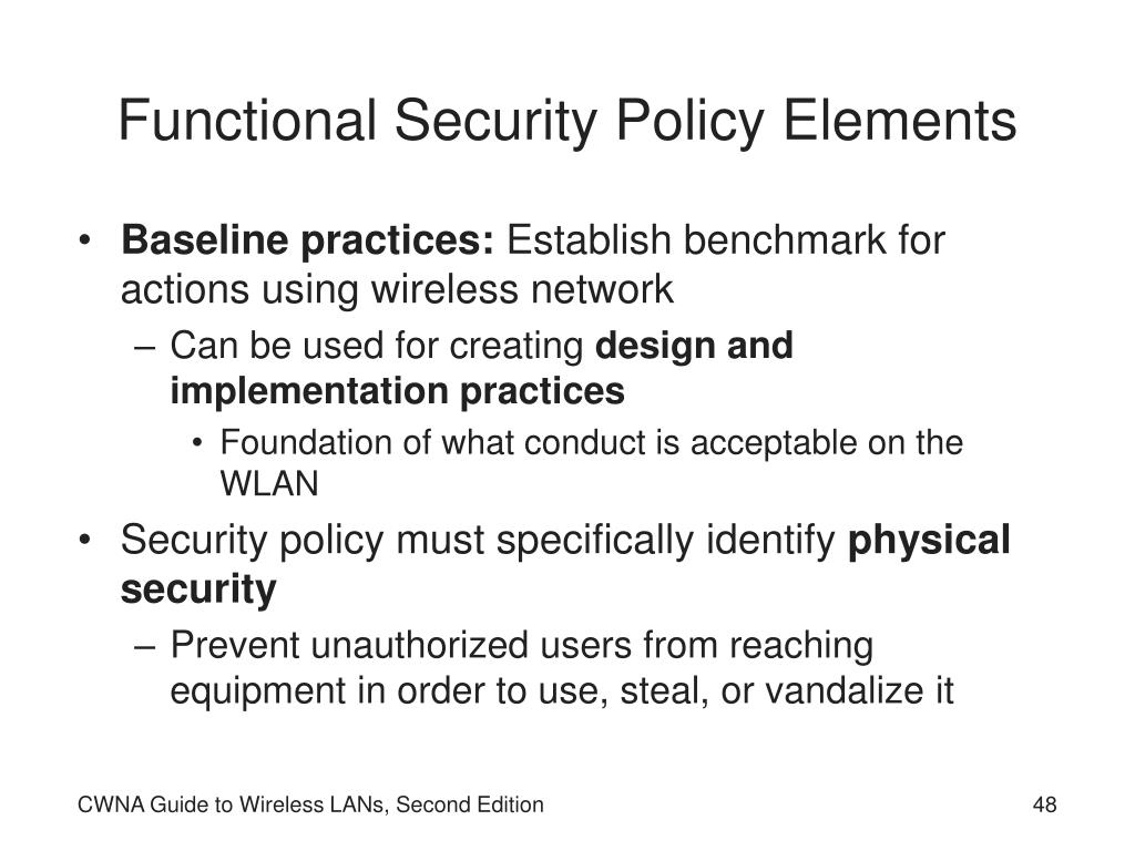 Functional Security Policy Elements