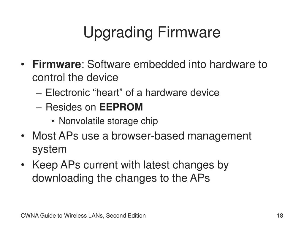 Upgrading Firmware
