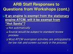 arb staff responses to questions from workshops cont27