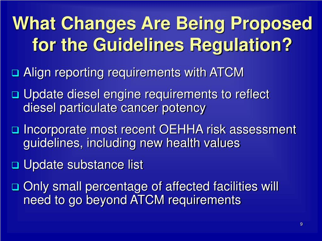 What Changes Are Being Proposed for the Guidelines Regulation?