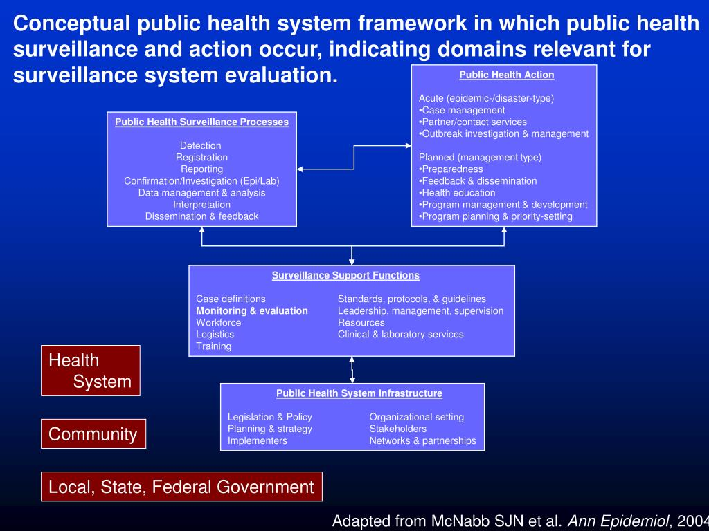 Conceptual public health system framework in which public health