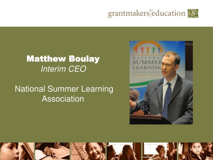 Matthew Boulay