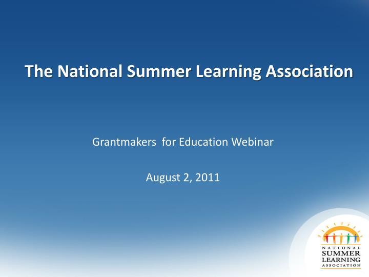 The National Summer Learning Association