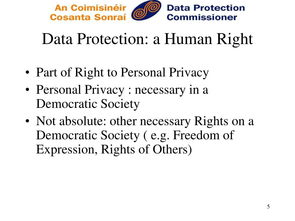Data Protection: a Human Right