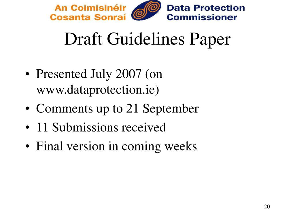 Draft Guidelines Paper