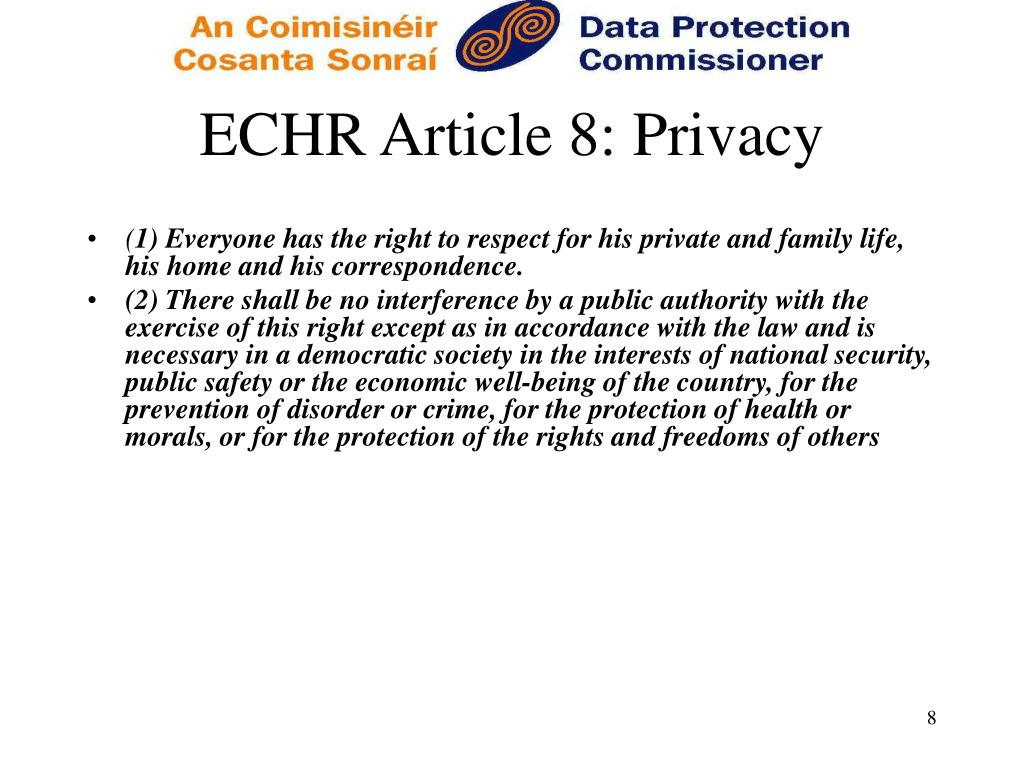 ECHR Article 8: Privacy