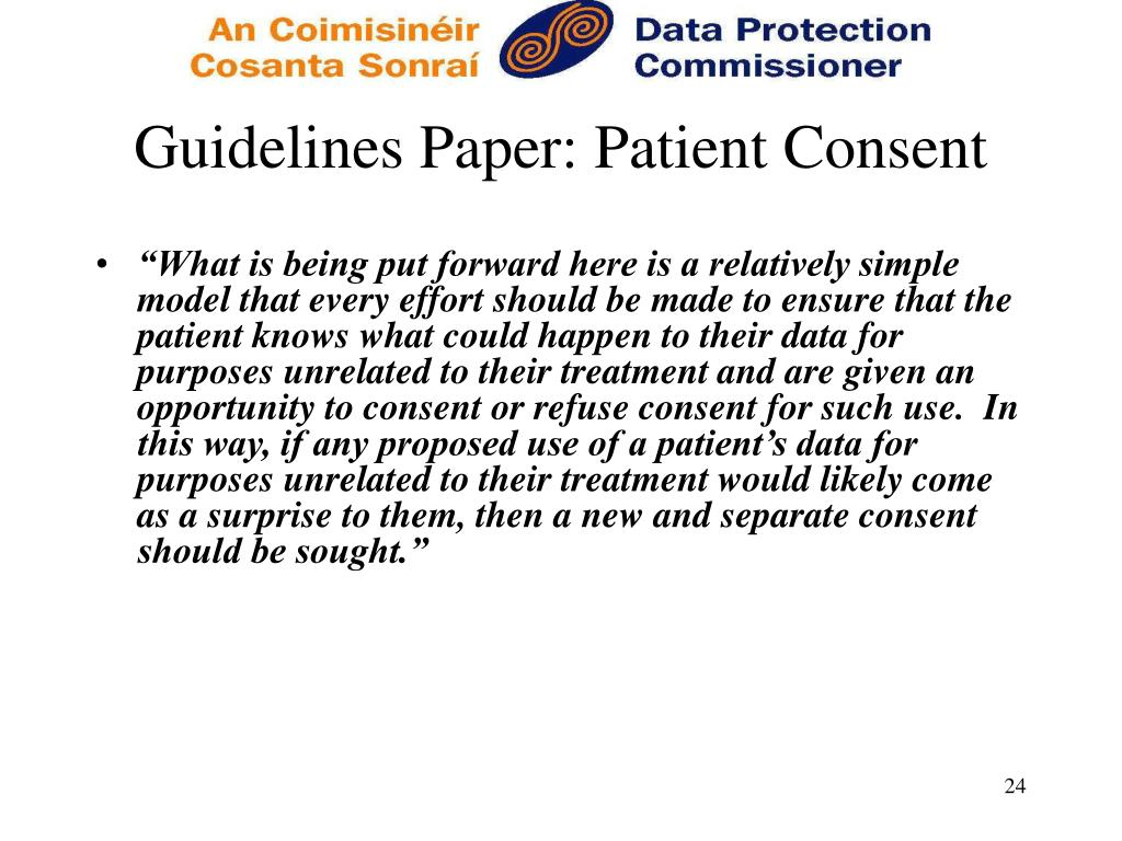 Guidelines Paper: Patient Consent