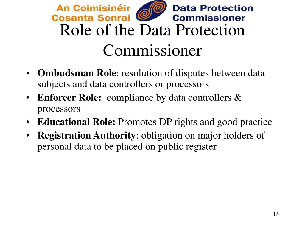 Role of the Data Protection Commissioner