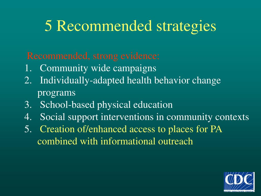 5 Recommended strategies