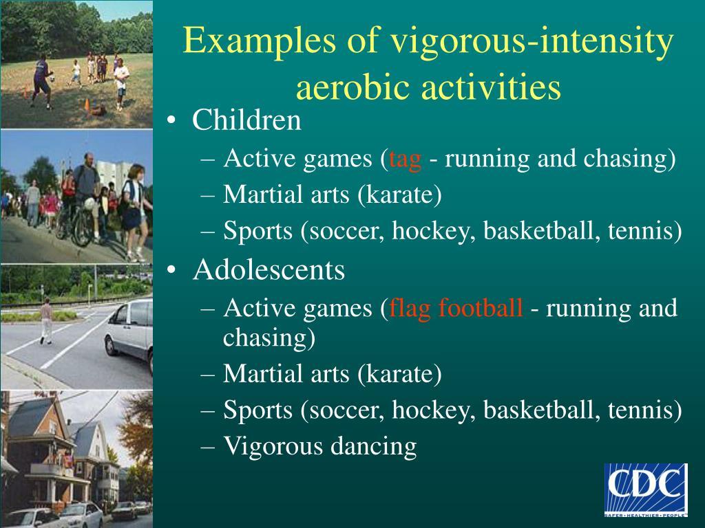 Examples of vigorous-intensity