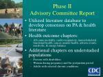 phase ii advisory committee report
