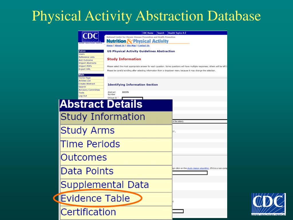 Physical Activity Abstraction Database