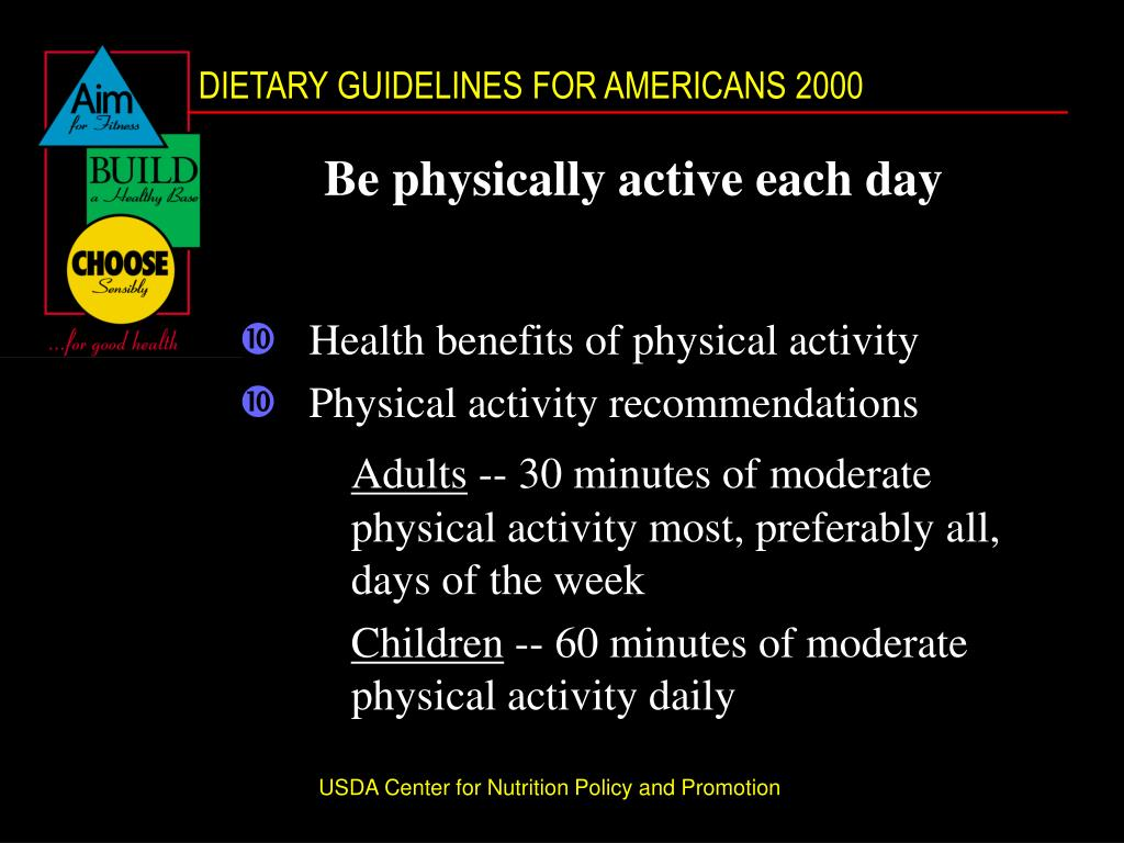 Be physically active each day