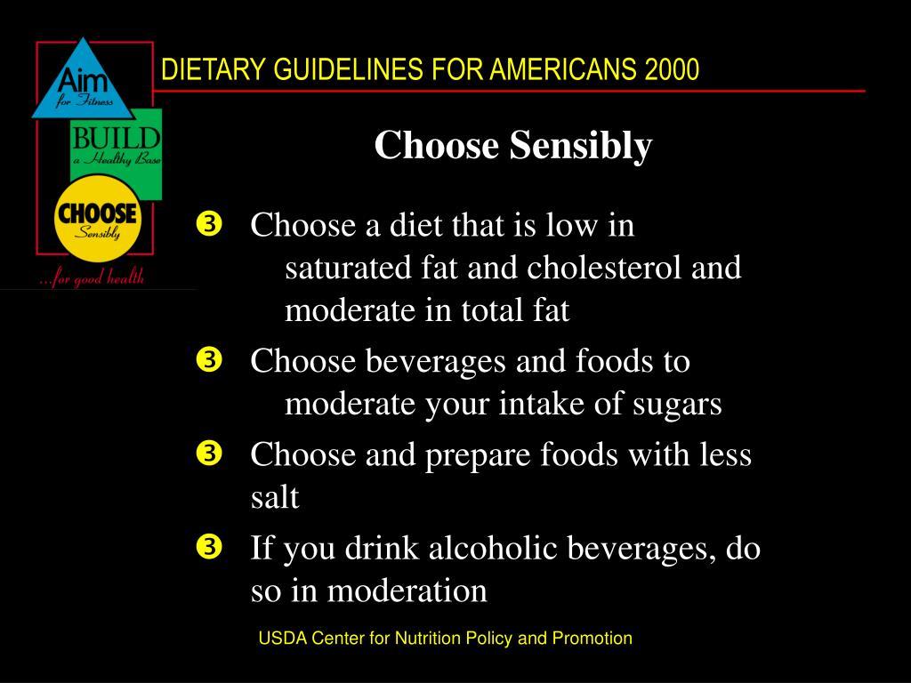 Choose Sensibly