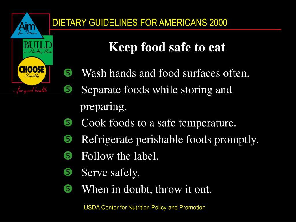 Keep food safe to eat