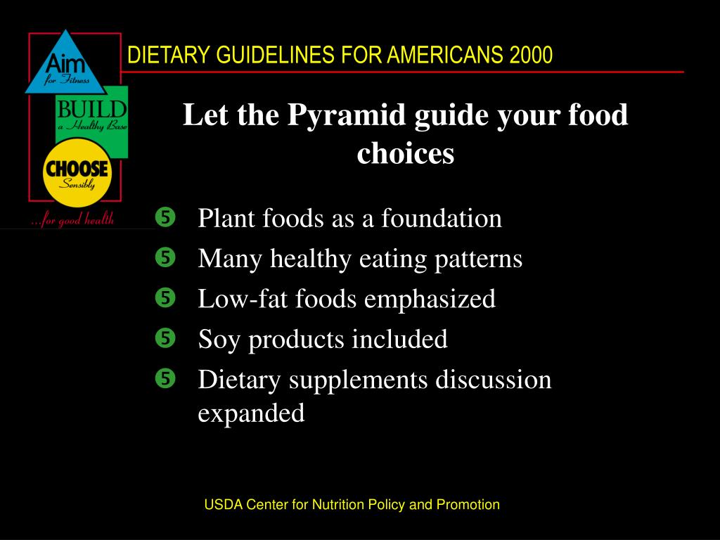 Let the Pyramid guide your food choices