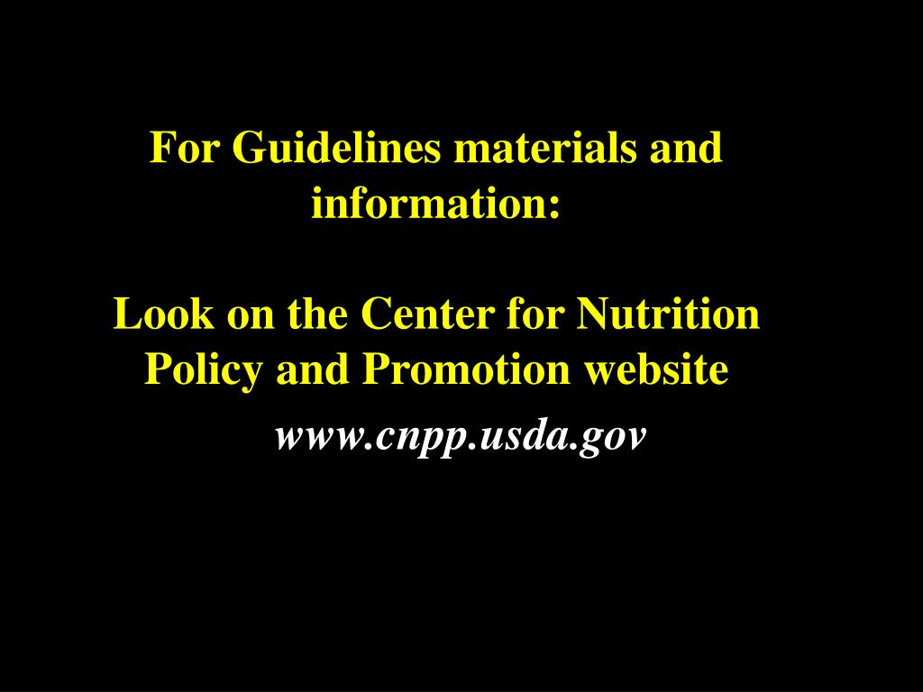 For Guidelines materials and information: