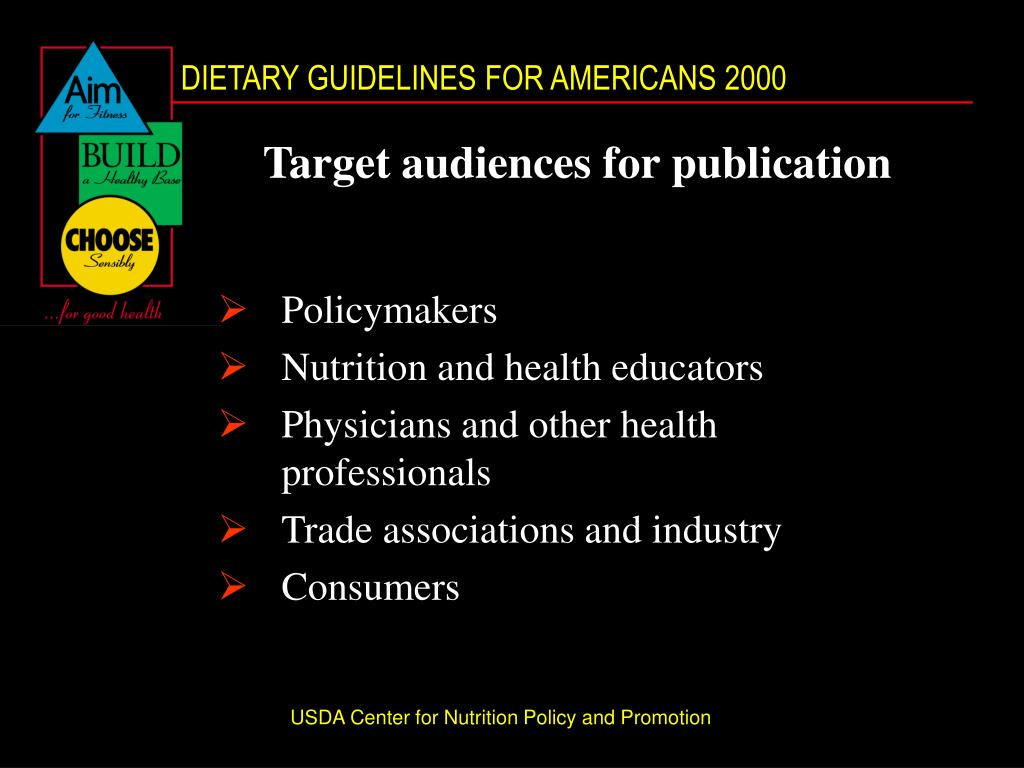 Target audiences for publication