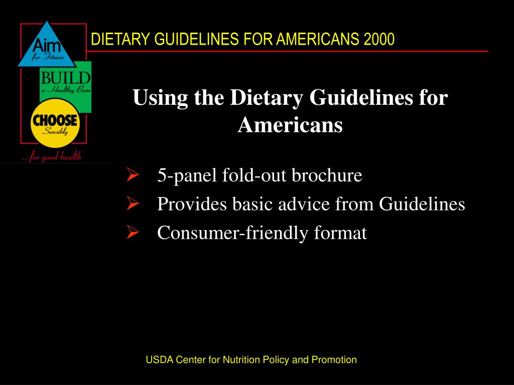 Using the Dietary Guidelines for Americans
