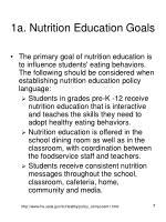 1a nutrition education goals