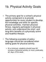 1b physical activity goals