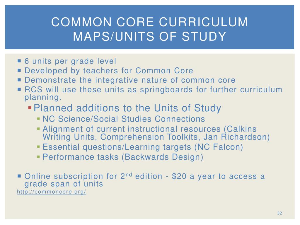 common core writing curriculum