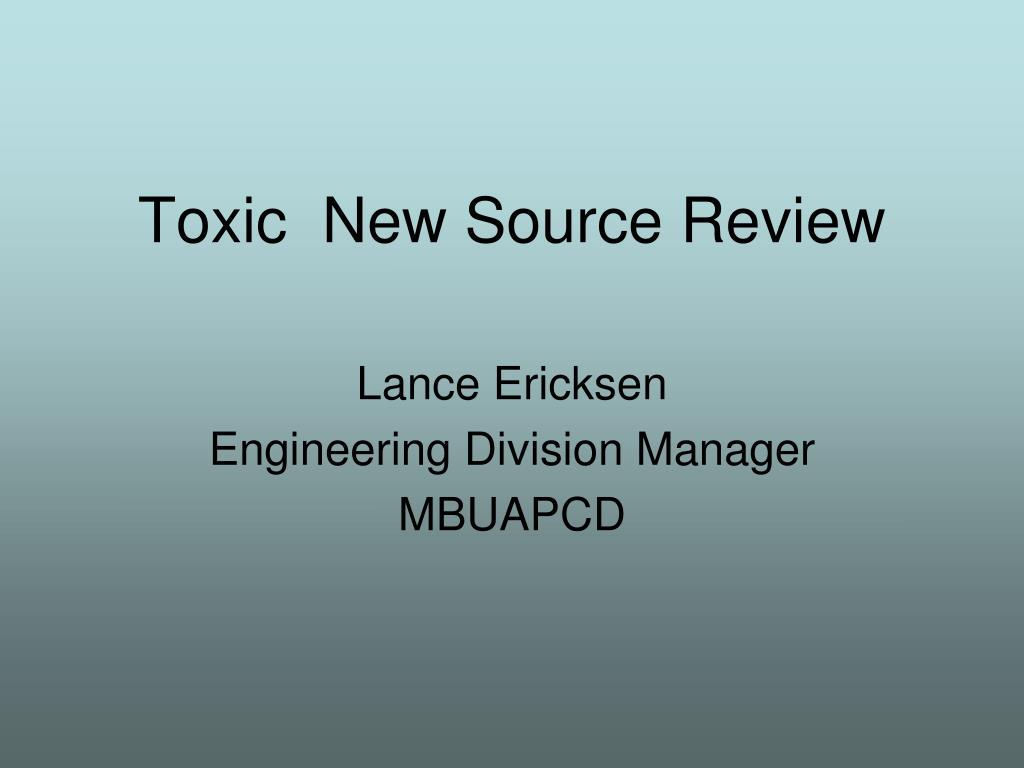 Toxic  New Source Review