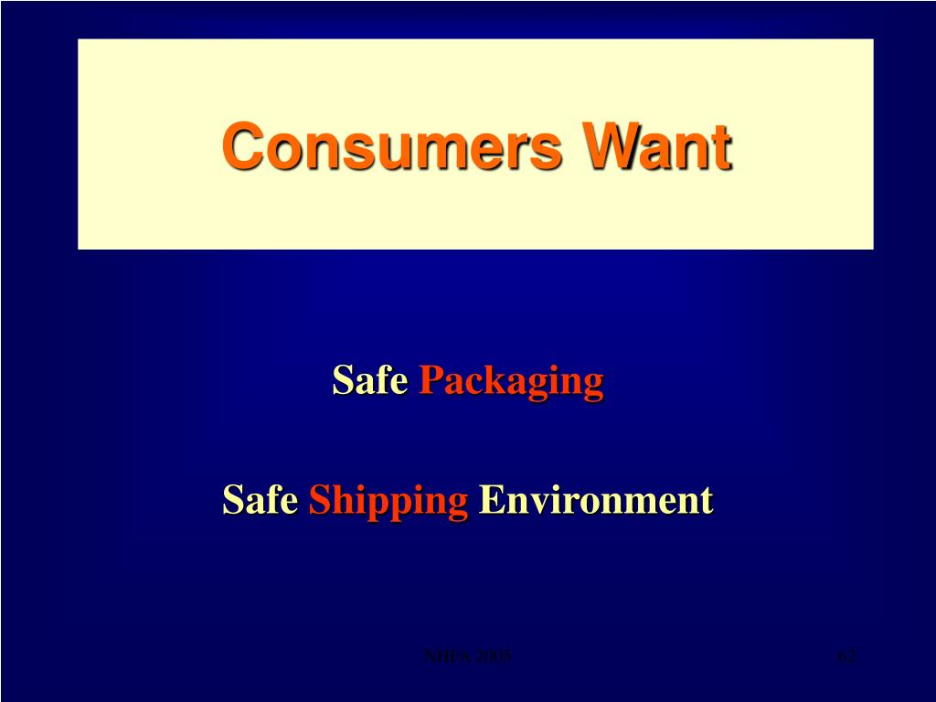 Consumers Want