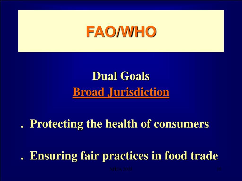 FAO/WHO