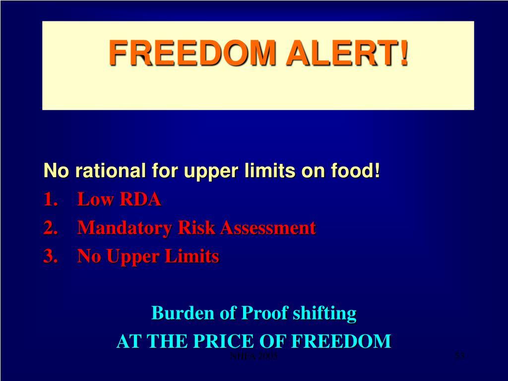 FREEDOM ALERT!