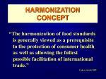 harmonization concept