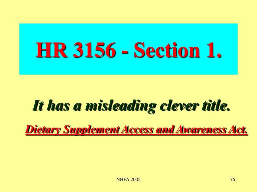HR 3156 - Section 1.