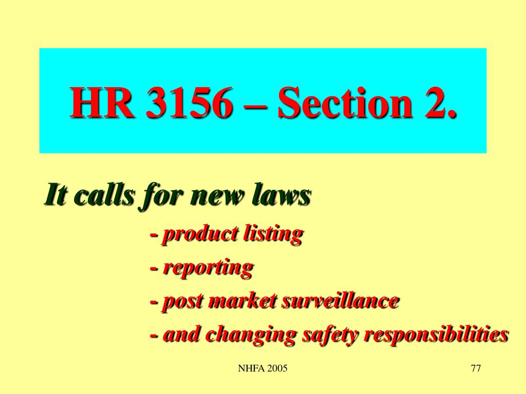 HR 3156 – Section 2.